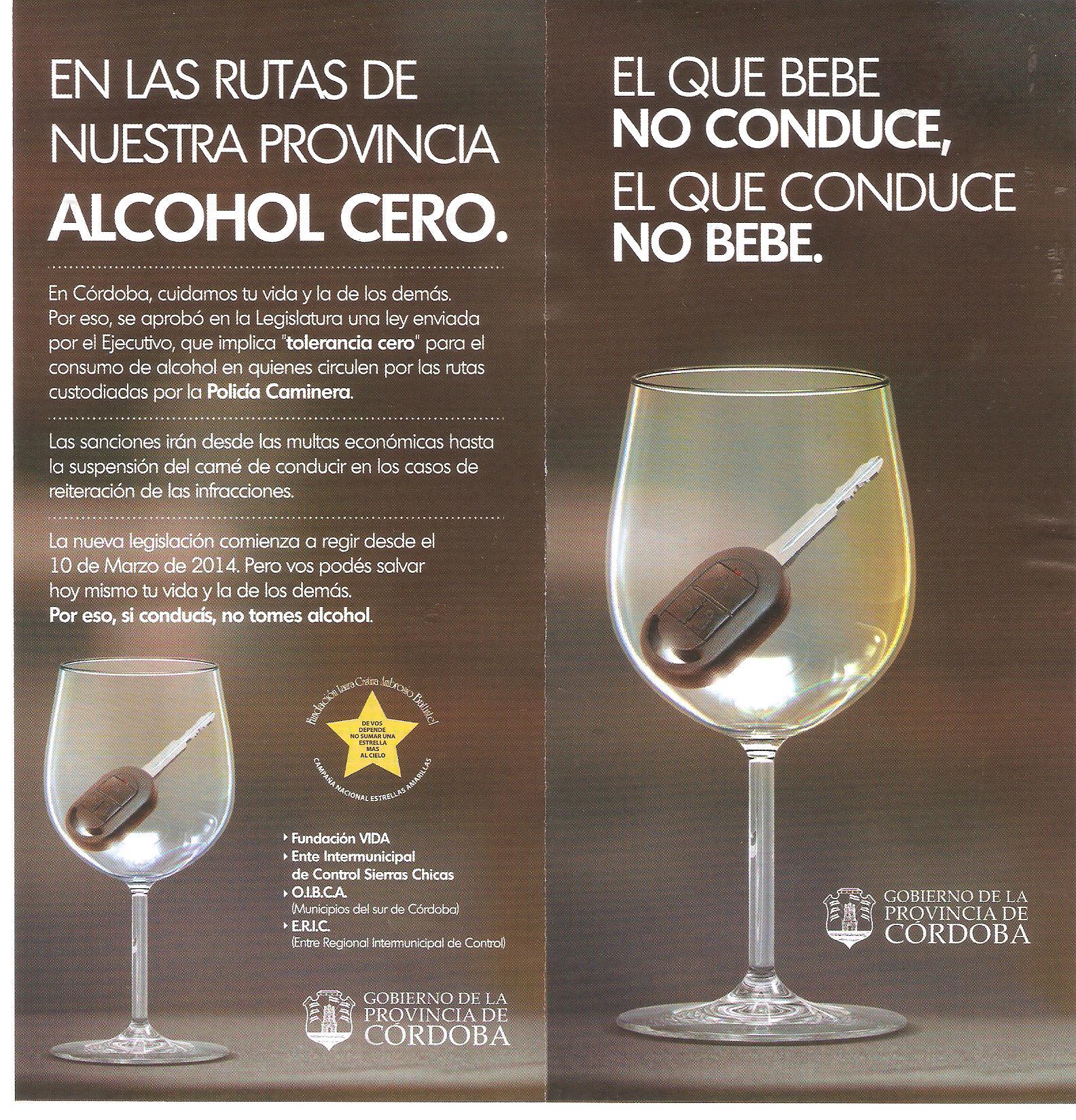 Folleto Promocional de la Campaña del Gobierno de la Provincia de Córdoba