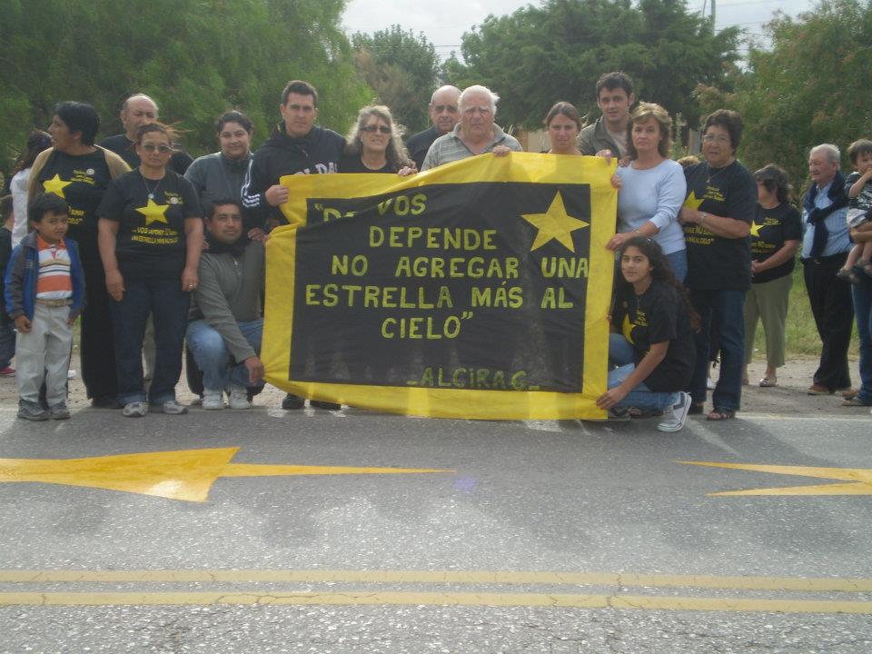 Se homenajeó a víctimas de tránsito en la ruta 36